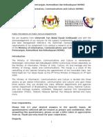 Kementerian Penerangan Komunikasi dan Kebudayaan questionnaire