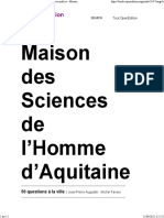50 Questions à La Ville - L'Urbanité Flexible Des Espaces Publics - Maison Des Sciences de l'Homme d'Aquitaine