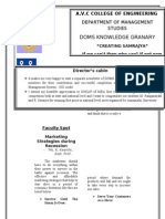 DOMS NEWSLETTER March 1