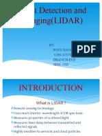 Light Detection and Ranging(LIDAR)