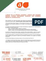 ARGUS PRESSE CORPORATE _ L'ARGUS DE LA PRESSE ACQUIERT L'ARGUS DES FICHIERS PRESSE