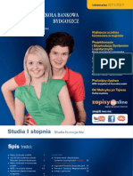 Informator 2010 - Studia I stopnia - Wyższa Szkoła Bankowa w Toruniu i w Bydgoszczy
