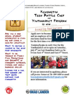Kensington Teen Battle Chef--Flyer