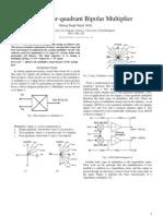 Design of four quadrant bipolar multiplier by Manraj Singh Gujral