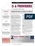 Payers & Providers California Edition  – April 7, 2011