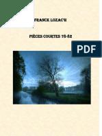 Pièces Courtes 78-82