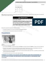 Presión de la válvula de alivio de lubricación (Transmisión) - Probar