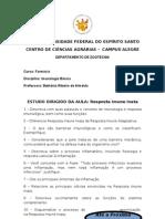ESTUDO DIRIGIDO- RESPOSTA IMUNE INATA