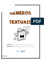 Caderno de Gêneros Textuais - Por Márcia Silva