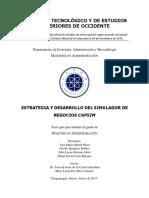 Estrategia y Desarrollo Del Simulador de Negocios Capsim