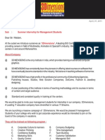 Summer Trainees-management College Letter