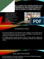 CONCEPCIONES DE LA PRÁCTICA PEDAGÓGICA EN LA CARRERA
