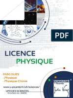 Licence Physique 2018 2019