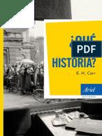 Carr E H Que Es La Historia Nueva Edición