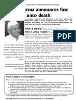 Anna Hazare Pamphlet
