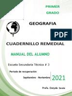 corregido 1° GEOGRAFIA- CUADERNILLO  REMEDIAL - ALUMNO 2021
