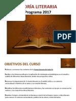 1. Teoría Literaria. Programa 2017pptx