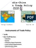 India-China Foreign Trade Policy