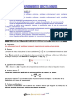 Cours Lycée Pilote - Physique - Mouvement Rectilignes - 3ème Sciences Exp (2015-2016) Mr Rmili Said
