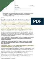 Vitamin D May Boost Teens' Arterial Health (July 30, 2010)