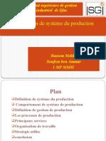 --organisation de systeme  du production