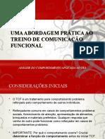 TREINO DE COMUNICAÇÃO FUNCIONAL