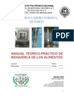 Manual Bioquímica de Los Alimentos