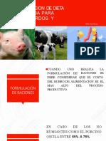 FORMULACION DE DIETA BALANCEADA PARA CERDOS Y VACUNOS