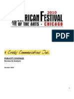 2010 African Festival of the Arts Publicity Report