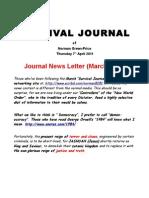 Survival Journal March 2011 News Letter