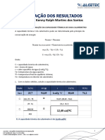 Fisica - Dinamica e Termodinamica - Calorimetria - Relatório - Unid 3