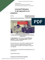 Programma Test Professioni Sanitarie_ cosa studiare