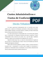 Custos Administrativos e Custos de Conformidade