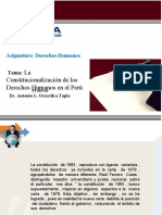 Clase 3 - La Constitucionalización de Los Derechos Humanos en El Perú