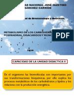 CLASE 06. METABOLISMO DE FRUCTOSA Y GALACTOSA