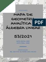 MAPA Geometria Analítica e Álgebra Linear