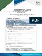 Guia de actividades y rúbrica de evaluación - Unidad 1 - Fase 2 - Contaminación del agua
