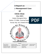 five force analysis of coca cola in china I have completed the swot on coca-cola, however i am failing to  we shall  come across the swot analysis and porter's generic strategy of coca-cola/.