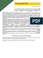 Decreto Nº 658 - Enfermedades Profesionales -