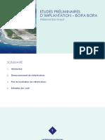 Etudes Préliminaires Dimplantation -Bora Bora Présentation Finale