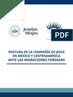 Postura de la Compañía de Jesús en México y Centoamérica ante las migraciones forzadas