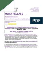 Sierra Club press release