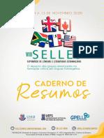 CADERNO DE RESUMOS - VIII SELLES