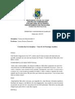 Trabalho Final Da Disciplina de Teorias Das Subjetividade II - Tema 01 de Psicologia Analítica - Éwerton Vasconcelos Sampaio