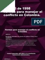 Ley 446 de 1998 Normas Para Manejar El Conflicto en Colombia.