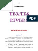 Haar - Textes-Divers