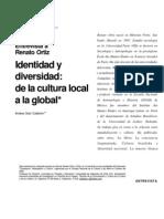 Identidad, diversidad y la cultura local según Ortiz