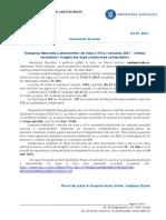 Comunicat de Presă, Rezultate Finale Evaluarea Națională 04.07.2021