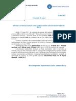 Comunicat de Presă, Evaluarea Națională 22.06.2021