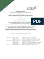 Synthèse des travaux présentée à l'Université Paris-Sud — Paris Saclay